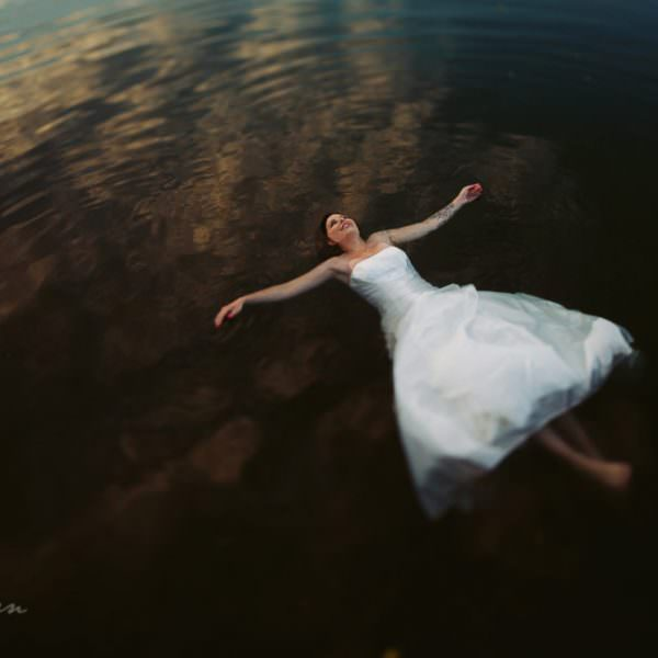 Daniela im Kreidebergsee - after wedding shooting